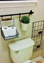 Creative storage bathroom ideas for space saving (30)