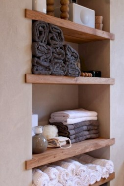 Creative storage bathroom ideas for space saving (40)