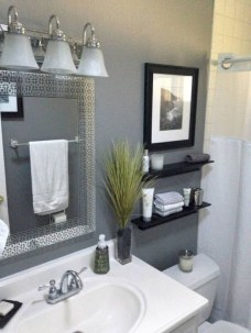 Creative storage bathroom ideas for space saving (46)