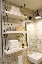 Creative storage bathroom ideas for space saving (55)