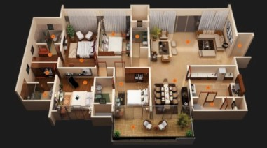 Creative two bedroom apartment plans ideas 01