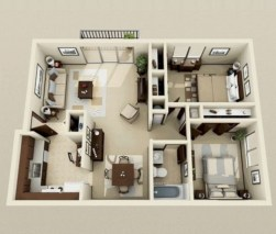 Creative two bedroom apartment plans ideas 02