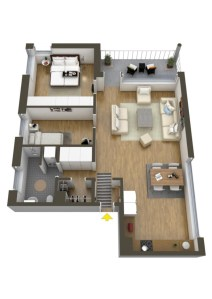 Creative two bedroom apartment plans ideas 05