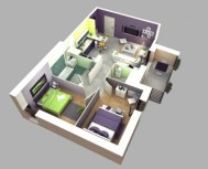 Creative two bedroom apartment plans ideas 06