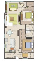 Creative two bedroom apartment plans ideas 15