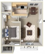 Creative two bedroom apartment plans ideas 17