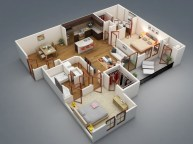 Creative two bedroom apartment plans ideas 22