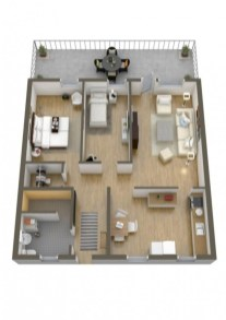 Creative two bedroom apartment plans ideas 31