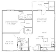 Creative two bedroom apartment plans ideas 44