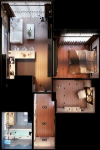 Creative two bedroom apartment plans ideas 54