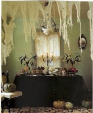 Elegant halloween living room decoration ideas 04