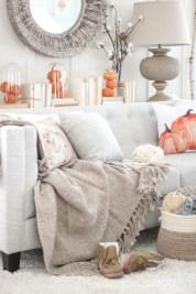Elegant halloween living room decoration ideas 49