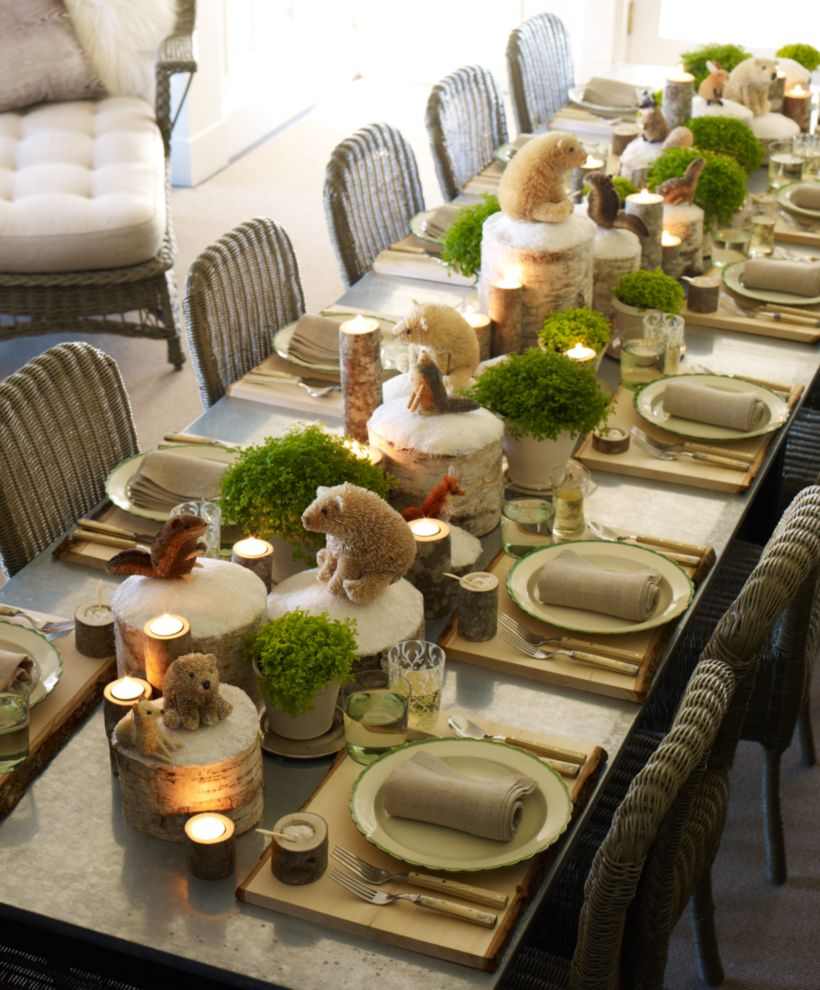 Gorgeous rustic christmas table settings ideas 5 5 & 54 Gorgeous Rustic Christmas Table Settings Ideas - Round Decor