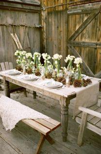 Gorgeous rustic christmas table settings ideas 53 53