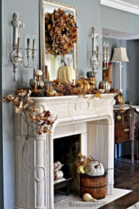 Great halloween mantel decorating ideas 15