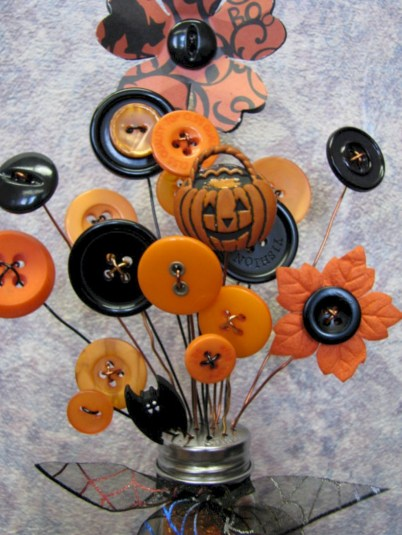 Great halloween mantel decorating ideas 35