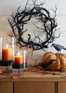 Great halloween mantel decorating ideas 36