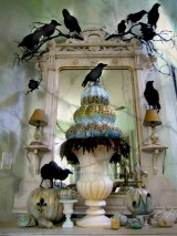 Great halloween mantel decorating ideas 38