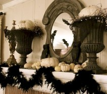 Great halloween mantel decorating ideas 39