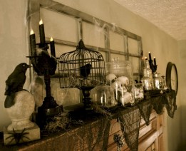 Great halloween mantel decorating ideas 50