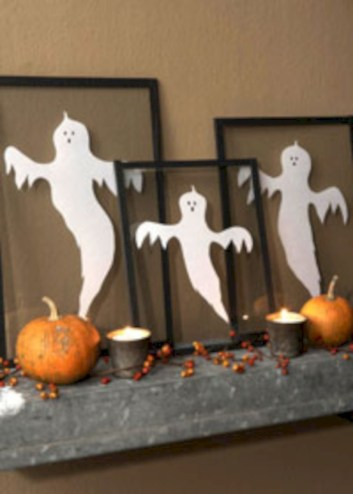 Great halloween mantel decorating ideas 53