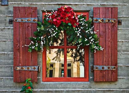 Ideas how to make comfortable rustic outdoor christmas décoration 02