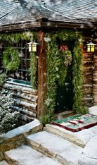 Ideas how to make comfortable rustic outdoor christmas décoration 05