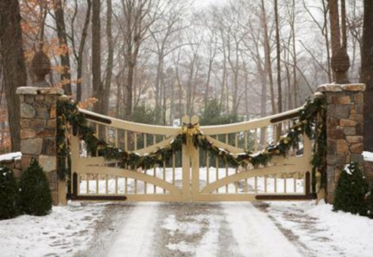 57 Ideas How to Make Comfortable Rustic Outdoor Christmas Décoration