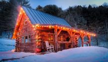 Ideas how to make comfortable rustic outdoor christmas décoration 40