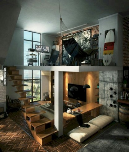 Industrial bedroom designs ideas for small spaces 38