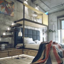 Industrial bedroom designs ideas for small spaces 40