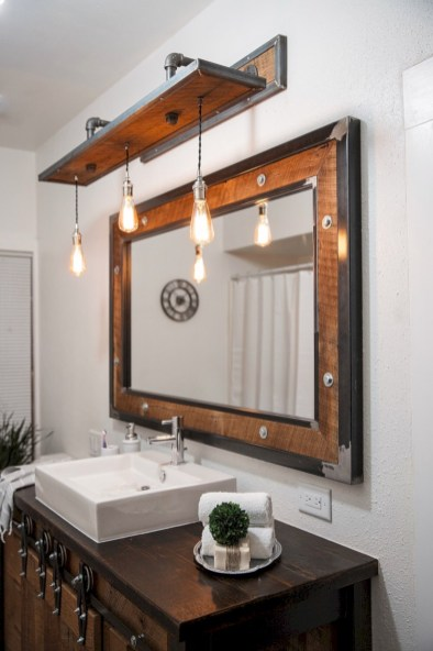 Industrial vintage bathroom ideas (12)