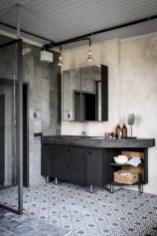 Industrial vintage bathroom ideas (22)