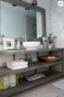 Industrial vintage bathroom ideas (23)