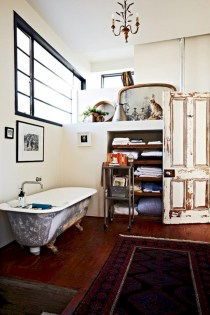 Industrial vintage bathroom ideas (34)
