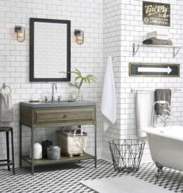 Industrial vintage bathroom ideas (35)