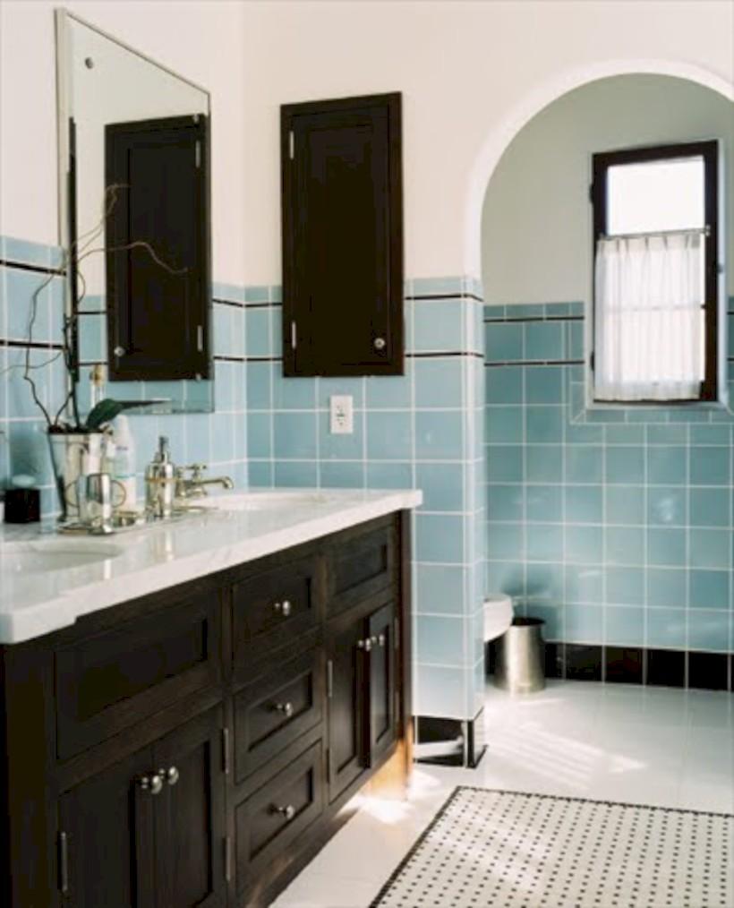 Industrial vintage bathroom ideas (40)