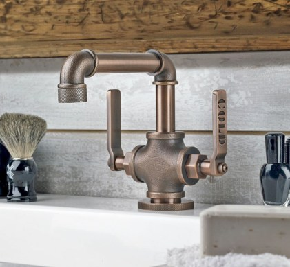 Industrial vintage bathroom ideas (41)