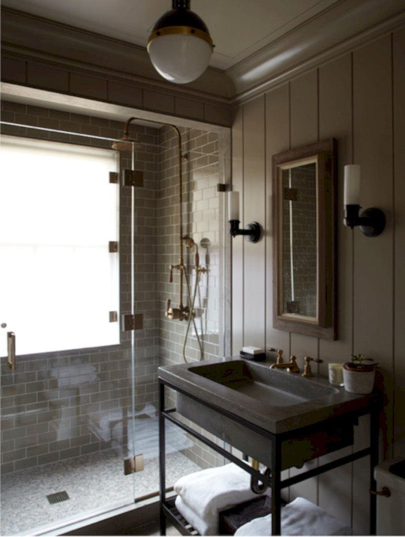 Industrial vintage bathroom ideas (45)