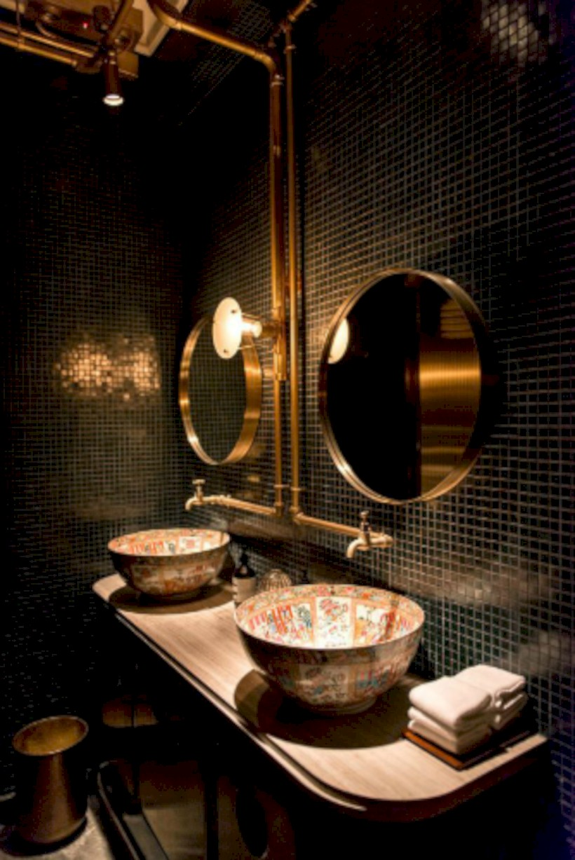 Industrial vintage bathroom ideas (46)