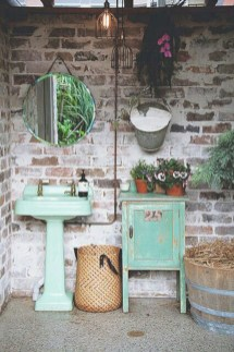 Industrial vintage bathroom ideas (49)