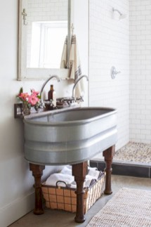 Industrial vintage bathroom ideas (50)