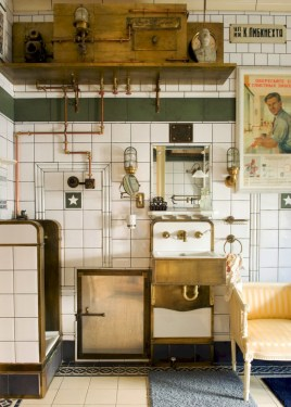 Industrial vintage bathroom ideas (62)