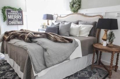 Inspiring christmas bedroom décoration ideas 06