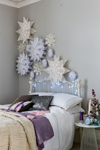 Inspiring christmas bedroom décoration ideas 17