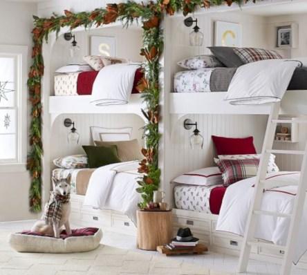 Inspiring christmas bedroom décoration ideas 19