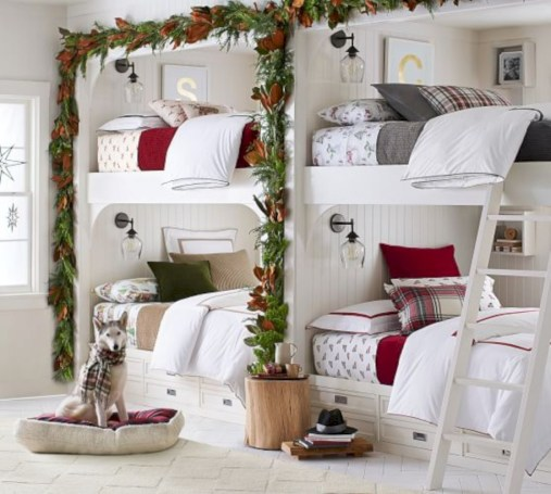 Inspiring christmas bedroom décoration ideas 19