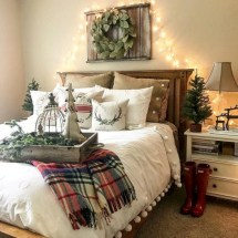 Inspiring christmas bedroom décoration ideas 21