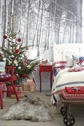 Inspiring christmas bedroom décoration ideas 32