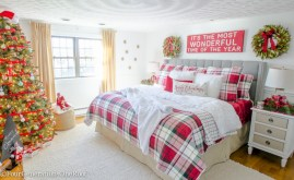 Inspiring christmas bedroom décoration ideas 52